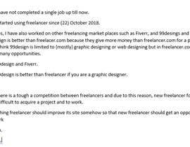 Nro 42 kilpailuun Provide candid feedback about Freelancer käyttäjältä abdulsattar1998