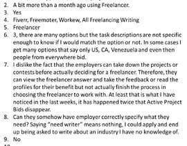 Nro 47 kilpailuun Provide candid feedback about Freelancer käyttäjältä marianaespejo88