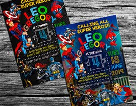 nº 55 pour Create a superhero theme birthday invite par adesign060208