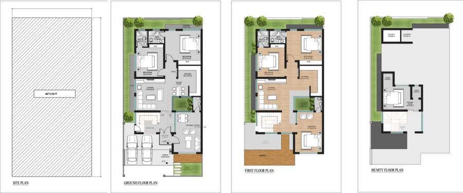 Inscrição nº 4 do Concurso para Planning row houses in a open plot