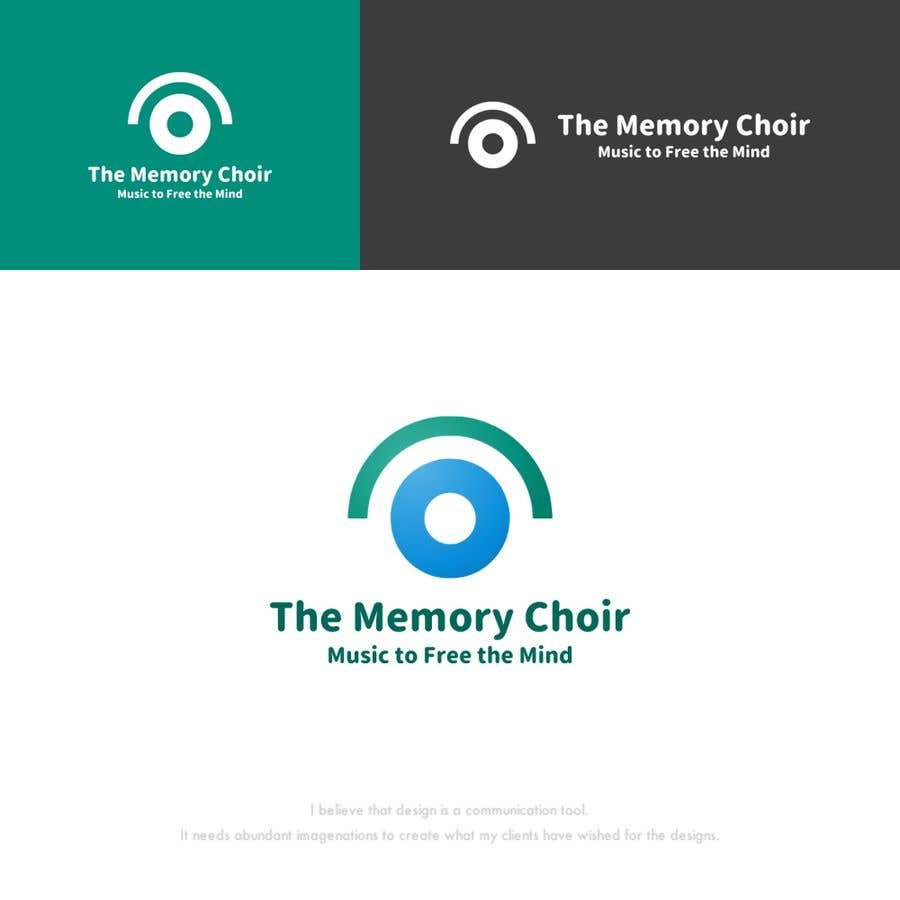 Proposition n°33 du concours I need a logo for a choir called The Memory Choir with a strap line 'Music to Free the Mind'