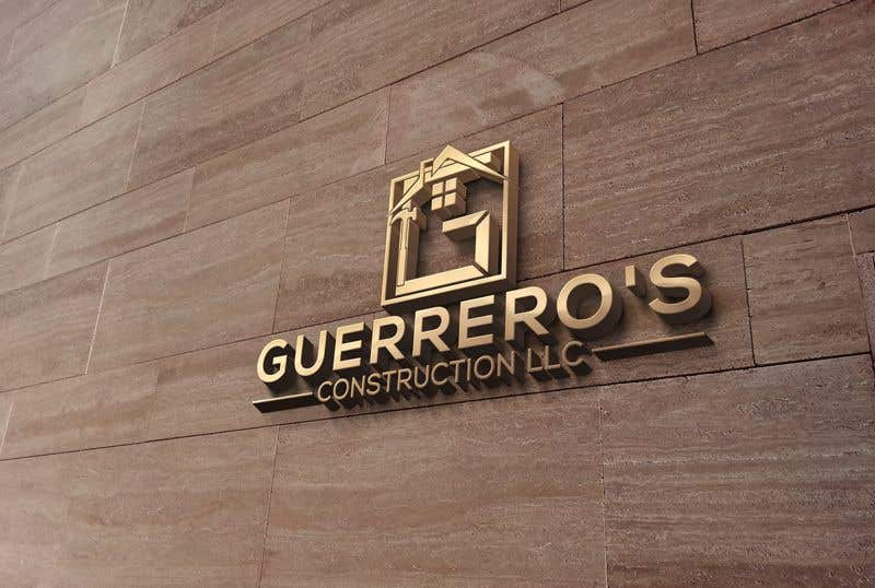 Konkurrenceindlæg #93 for Guerrero's Construction, logo Design