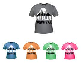 #69 для Ninja Survival t-shirt design от aliabdelhasi