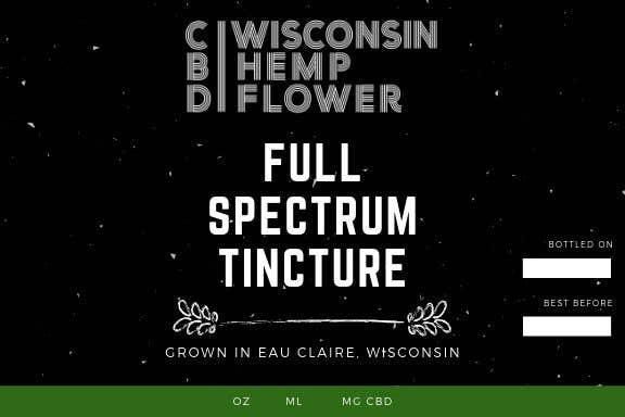 Entry #1 by DesignerZ506 for Label for Wisconsin Hemp Flower CBD Oil