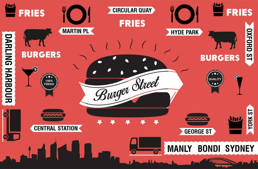 Contest Entry 43 For Logo Food Truck Concept Design Burger
