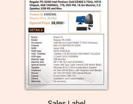 #13 for Sales Label for computer equipment by TH1511
