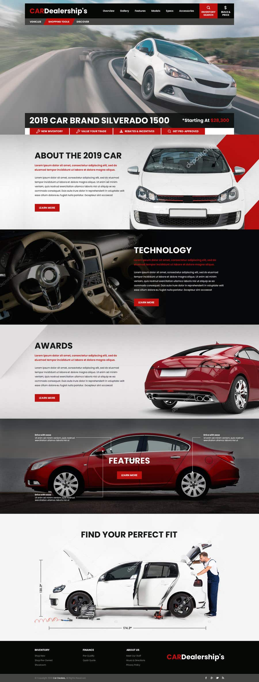 Contest Entry #47 for Design a landing page in PSD for a car dealer's website.