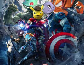 #24 for Create a Pokemon x Avengers Mashup Movie Poster af unsoftmanbox