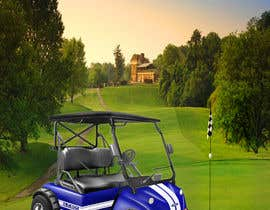 #7 for photoshop touch screen into picture of golf cart af borun8457