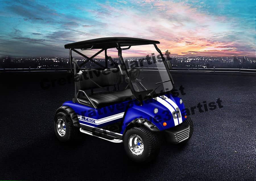 Inscrição nº 7 do Concurso para Photoshop attractive LED headlights onto golf cart