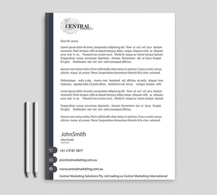 Proposition n°35 du concours Create a Letterhead