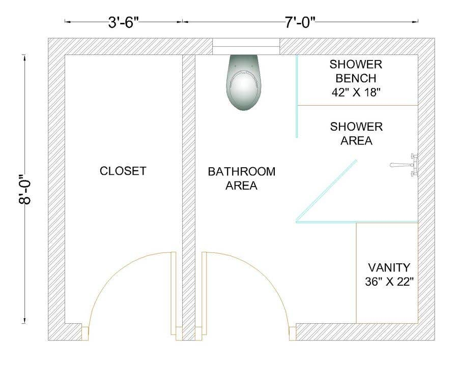 Contest Entry #30 for Design a bathroom Layout/ rendering