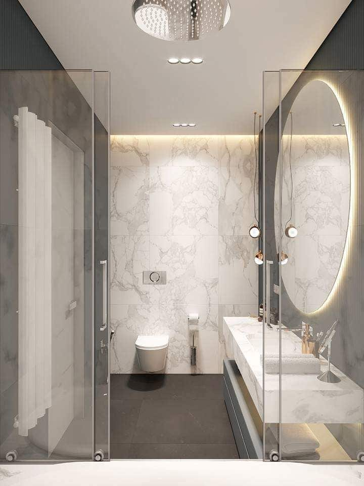 Contest Entry #25 for Design a bathroom Layout/ rendering