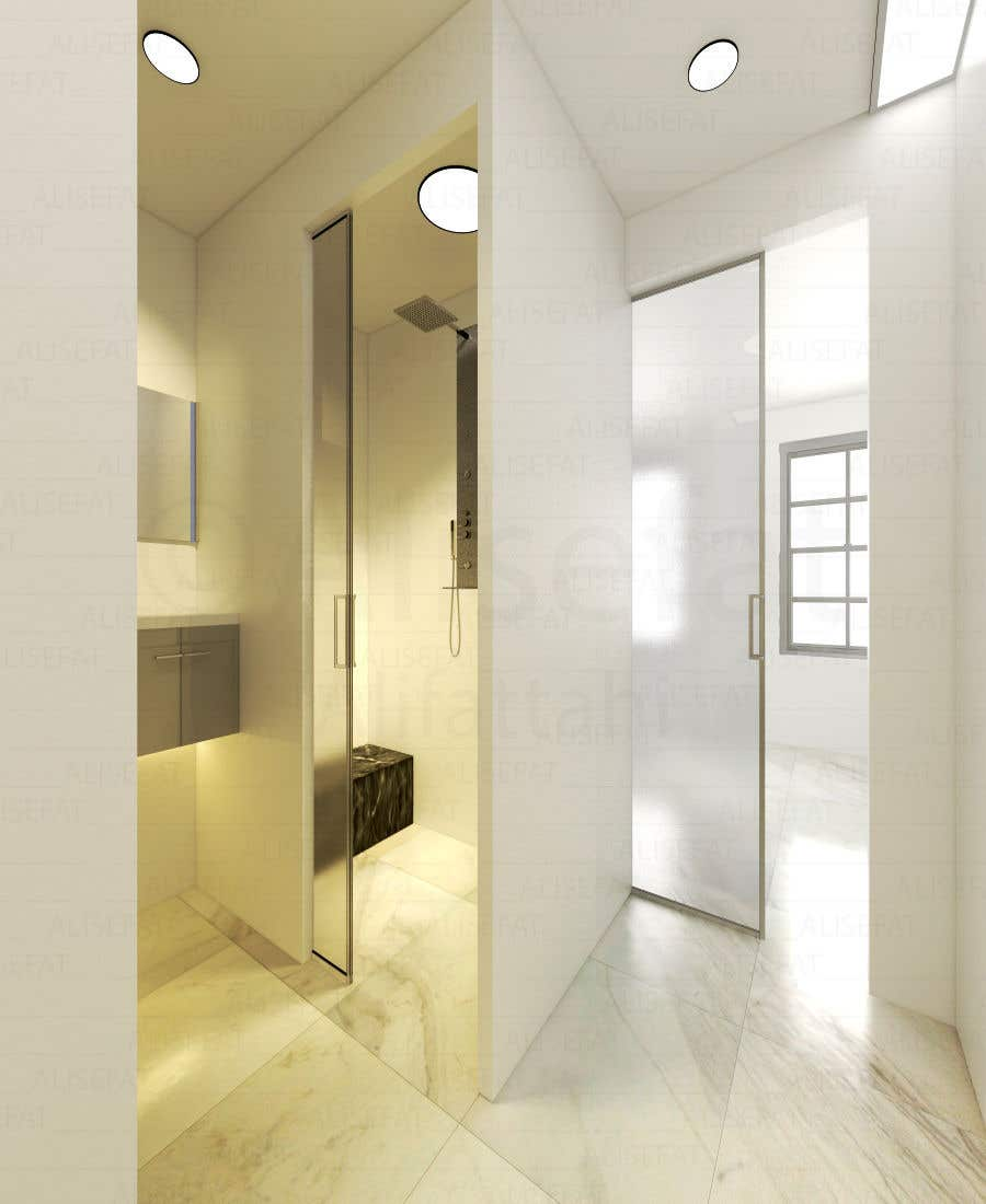 Contest Entry #28 for Design a bathroom Layout/ rendering