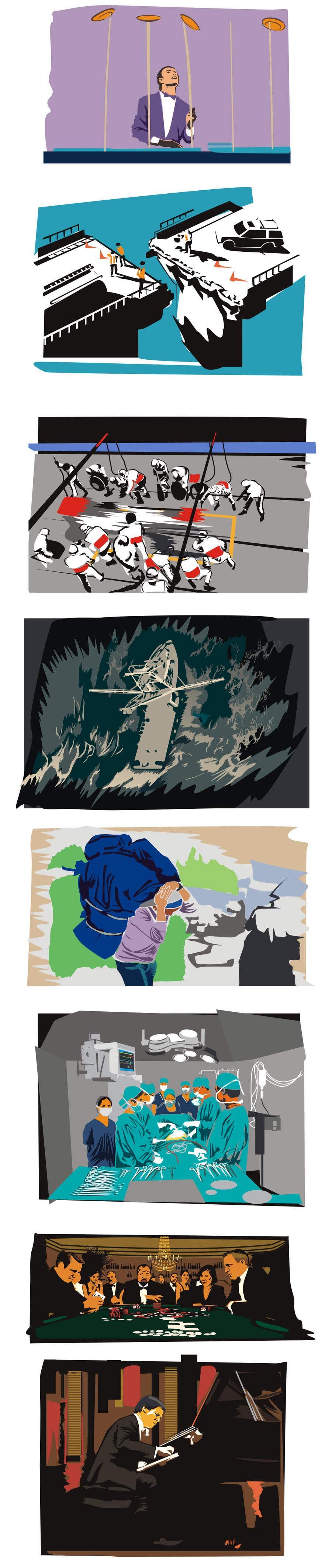 Konkurrenceindlæg #24 for Illustrate 8 pictures for a digital presentation