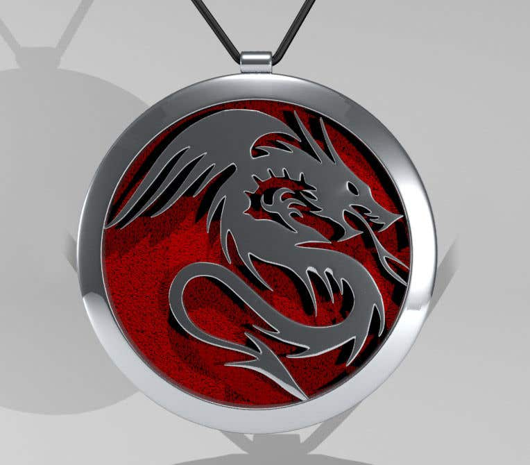 Penyertaan Peraduan #40 untuk Stainless Steel Jewelry Designs - Dragon Oil Diffuser Locket