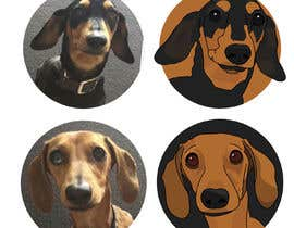 irishxdesigns tarafından I would like two images made of each of my dogs, similar to the pin ! için no 6