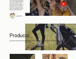 Nro 45 kilpailuun Design Home Screen for Mobile Responsive Website for an Instagram model käyttäjältä rsamojlenko