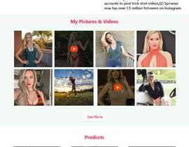 Nro 50 kilpailuun Design Home Screen for Mobile Responsive Website for an Instagram model käyttäjältä soykothosen16030