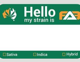 """#17 для Designer a """"hello my strain name is"""" sticker от nazmulhasanfahda"""
