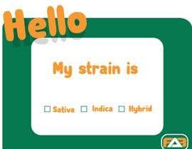 "nº 16 pour Designer a ""hello my strain name is"" sticker par siifoo"
