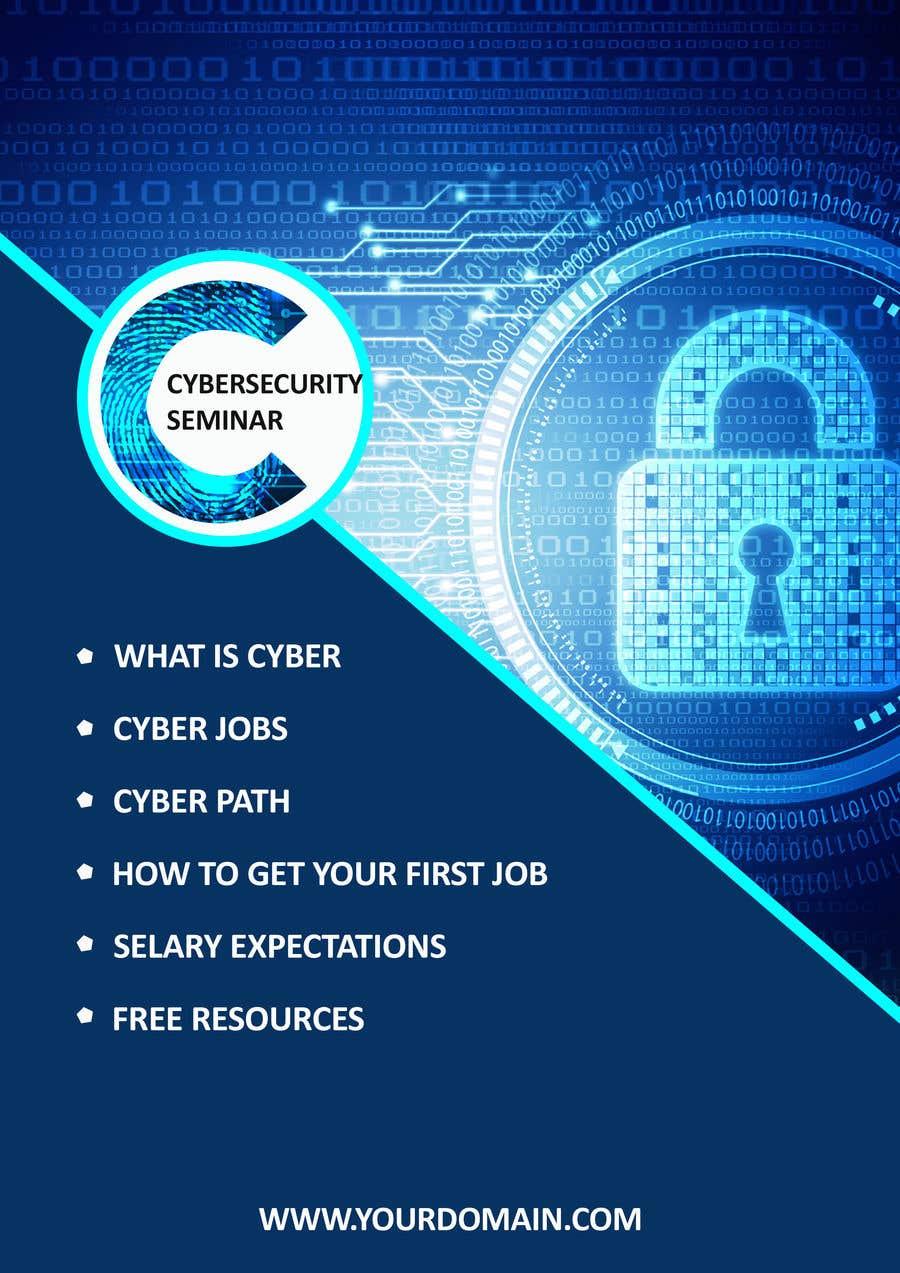 Penyertaan Peraduan #41 untuk Make me a Flyer - Cybersecurity