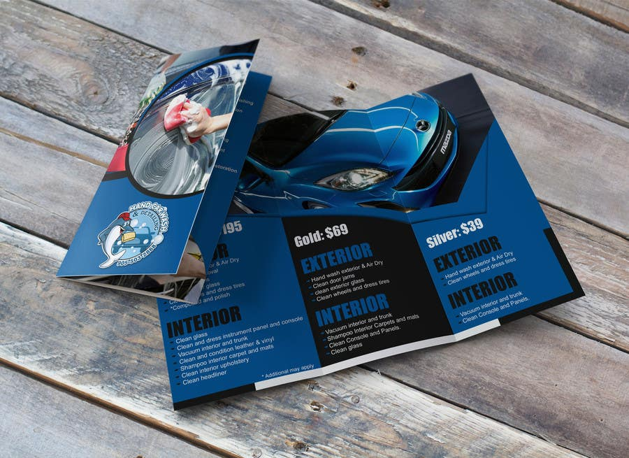 Entry #9 by stylishwork for Design a Brochure for Car Wash