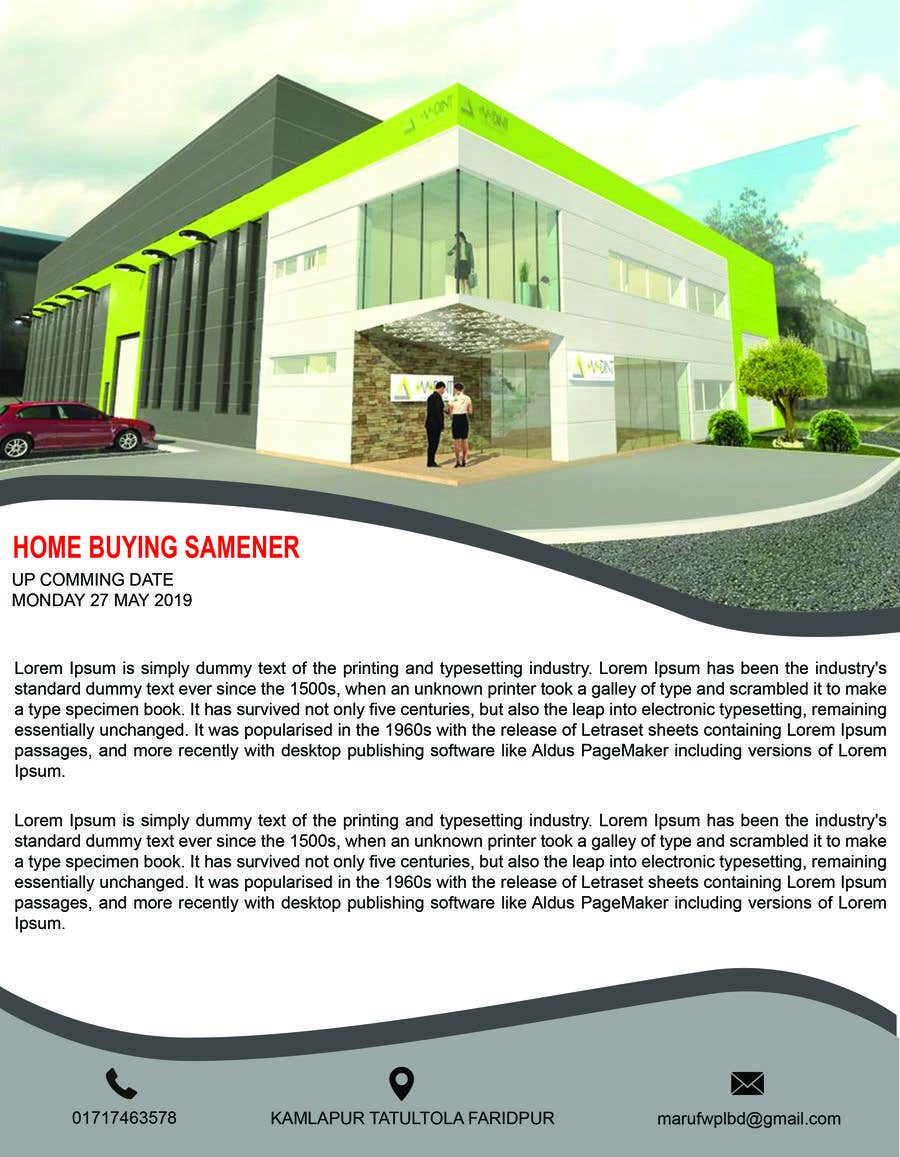 Proposition n°16 du concours build a flyer for upcoming home buyers seminar