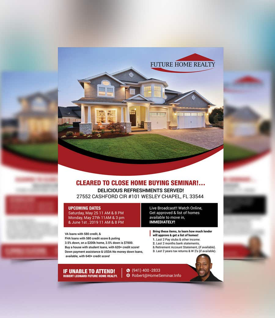 Proposition n°18 du concours build a flyer for upcoming home buyers seminar