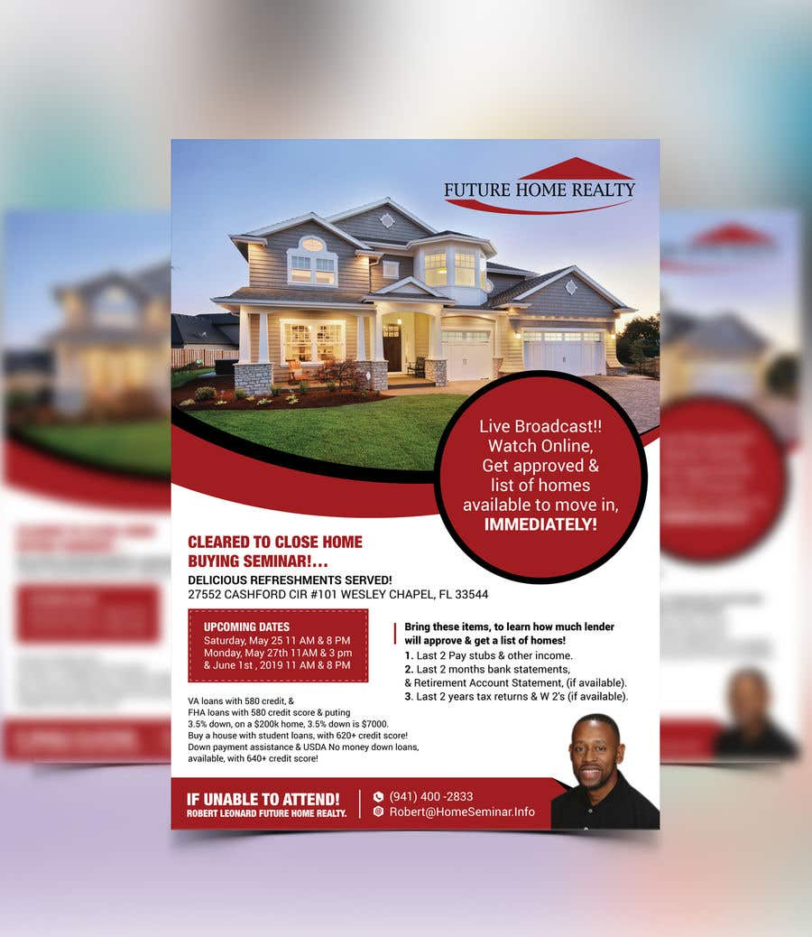 Proposition n°19 du concours build a flyer for upcoming home buyers seminar