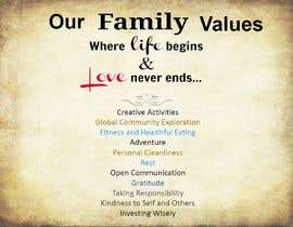 #31 for Family Values Poster by MikAndjel