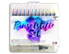Cordaseth tarafından Create a package Front Label for a PP hard plastic packaging of a watercolor brush set için no 6