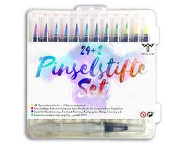Cordaseth tarafından Create a package Front Label for a PP hard plastic packaging of a watercolor brush set için no 10