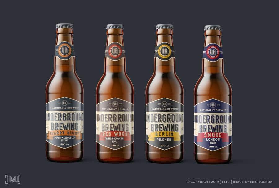 """Intrarea #14 pentru concursul """"Design beer bottle labels"""""""