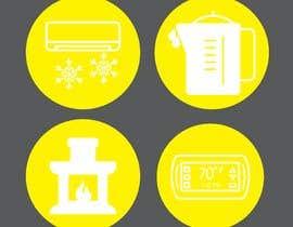 #35 for Need icon for Air, water, heat and thermostats&zoning af abdullahifrit