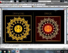 #8 untuk CAD Drawing of modified Sikh Khanda oleh wilsontiruvalla