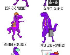 #17 cho 6 Different Cartooned Puny Versions of the same base Dinosaur w/ Names bởi Jordanoswald000