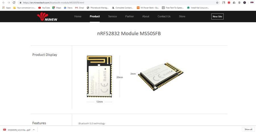 Kilpailutyö #22 kilpailussa Find the cheapest Bluetoooth module