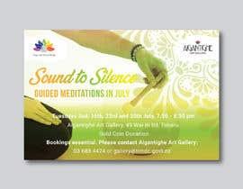 Nro 43 kilpailuun Poster for series of meditation classes in an art gallery käyttäjältä MOMODart