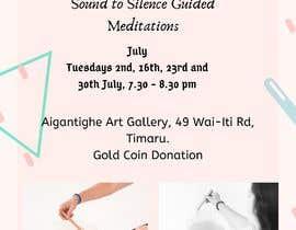 Nro 44 kilpailuun Poster for series of meditation classes in an art gallery käyttäjältä sitinursyafiqah
