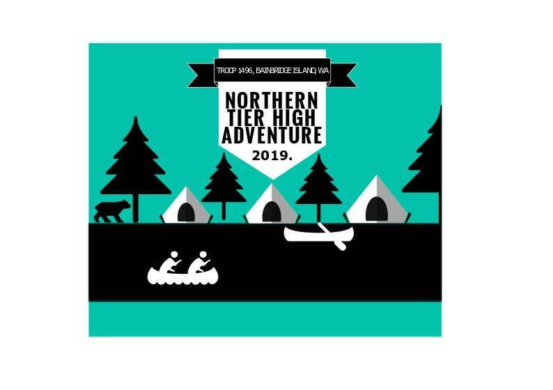 Bài tham dự cuộc thi #8 cho T-shirt Design for Scout Canoe Trek