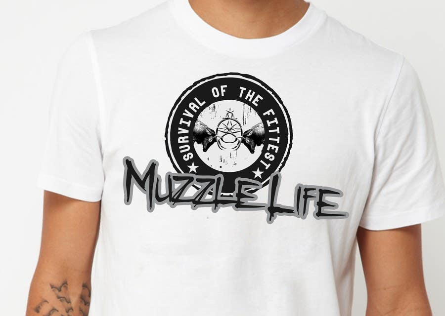 Contest Entry #                                        14                                      for                                         T-shirt Design for Muzzle Life - Featuring two Buck Deer's in Battle!