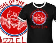 Graphic Design Contest Entry #5 for T-shirt Design for Muzzle Life - Featuring two Buck Deer's in Battle!
