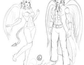 #3 untuk Draft Sketch of Fictional Characters - Anime or Fantasy - Original Work Only! oleh ronggott