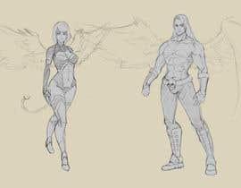 #11 untuk Draft Sketch of Fictional Characters - Anime or Fantasy - Original Work Only! oleh Milos009
