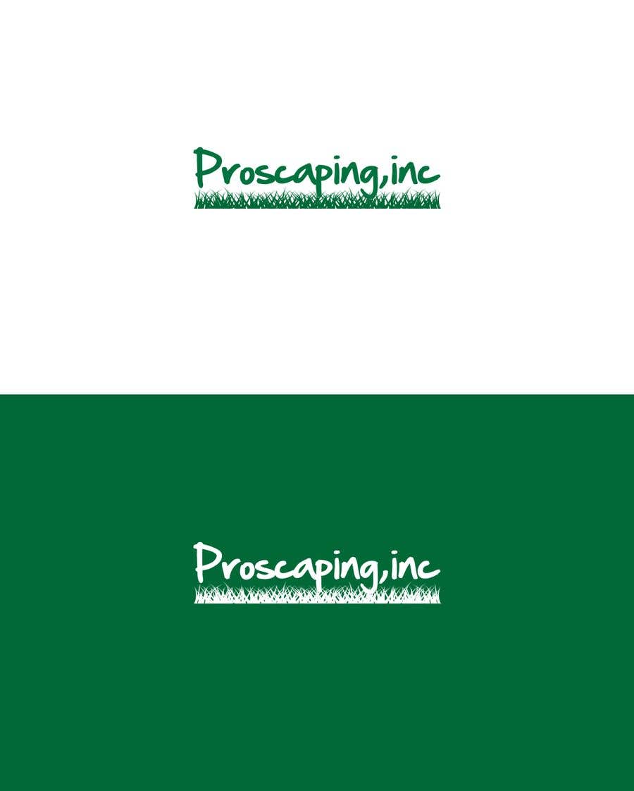 Penyertaan Peraduan #167 untuk Create a Logo for ProScaping Inc.