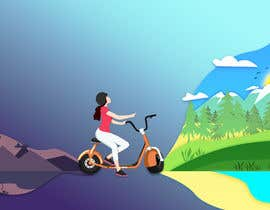 #27 untuk ILUSTRATION PICTURE FOR ELECTRIC SCOOTERS BUSINESS LANDING PAGE FIRST IMAGE oleh Lattia
