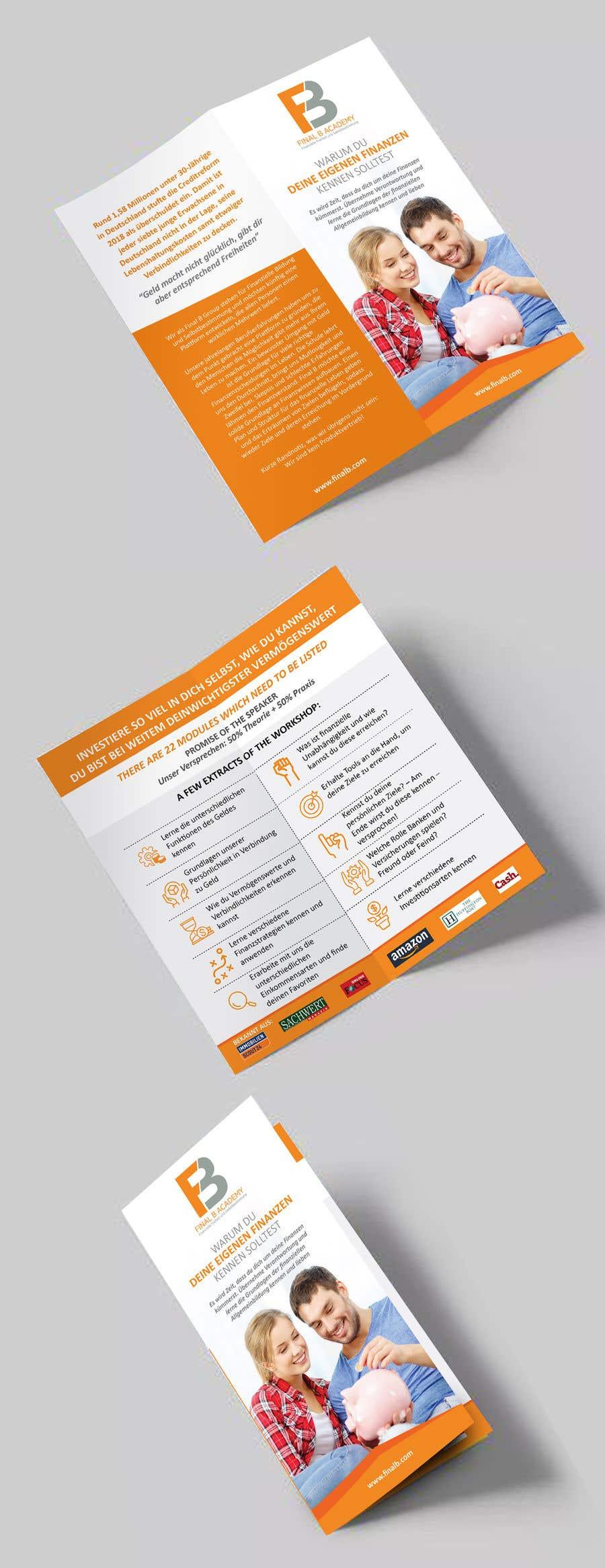 Proposition n°11 du concours DIN long Flyer for Finance Workshops