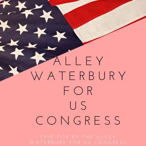 Конкурсная заявка №3 для Alley Waterbury for US Congress