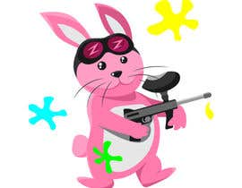 #4 for Vector Graphic: Bunny playing paintball af nadialuisemk